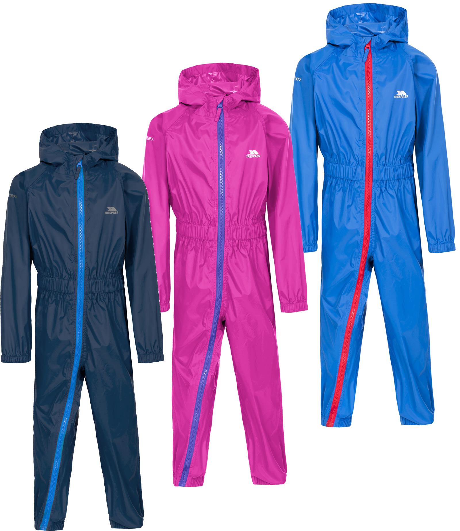 Trespass Unisex Kids Button Rain Suit