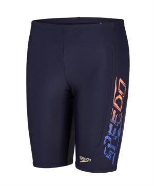 7fc99f685d Speedo Tech Boy's Sports Logo Jammers Swim Shorts Navy Blue