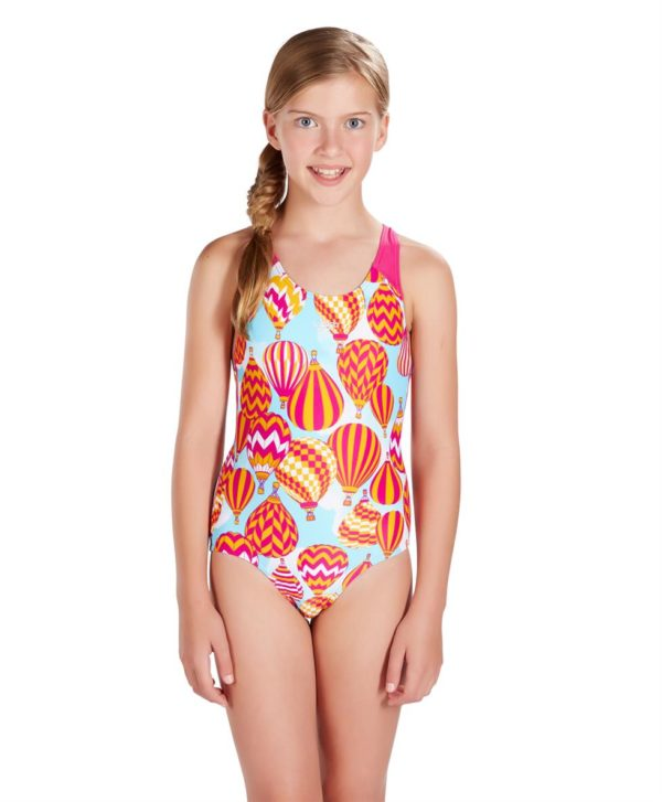 Speedo Colour Pops Allover Splashback Girls Swimsuit Swimming Costume