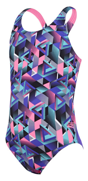 d6bb9976bd Zoggs Kitch Chaos Rowleeback Girls Swimsuit