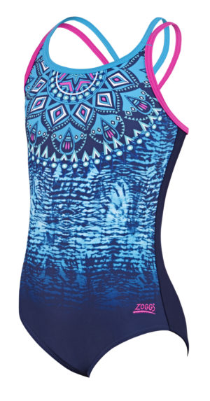 072e34892f Zoggs Native Spirit Double Crossback Girls Swimsuit