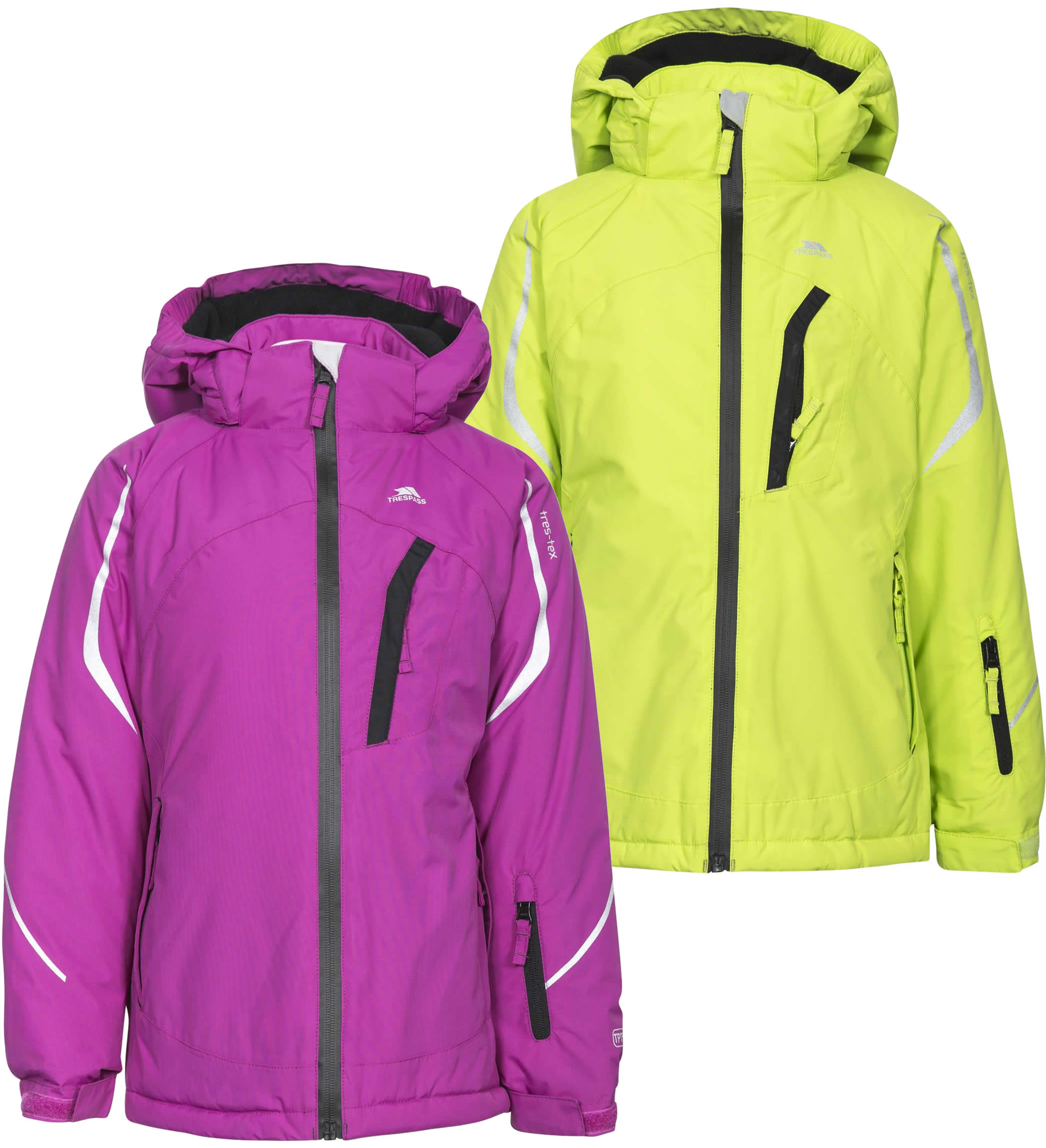 Trespass Girls Jala Waterproof Breathable Padded Hooded Skiing Coat