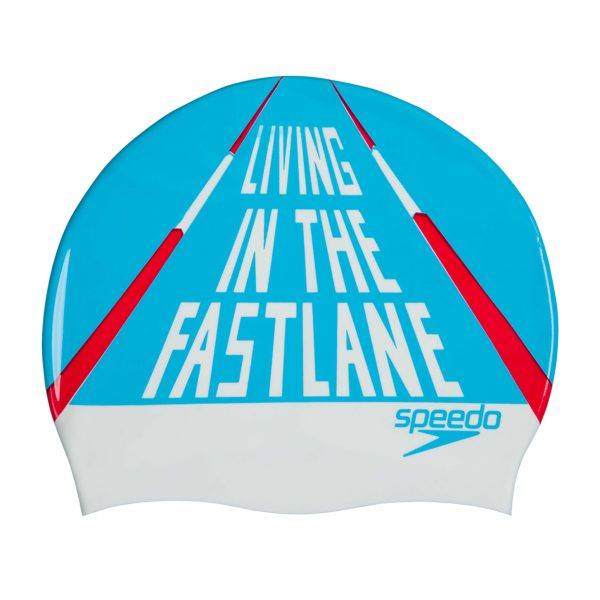 Speedo Fast Lane Slogan Print Adult Cap
