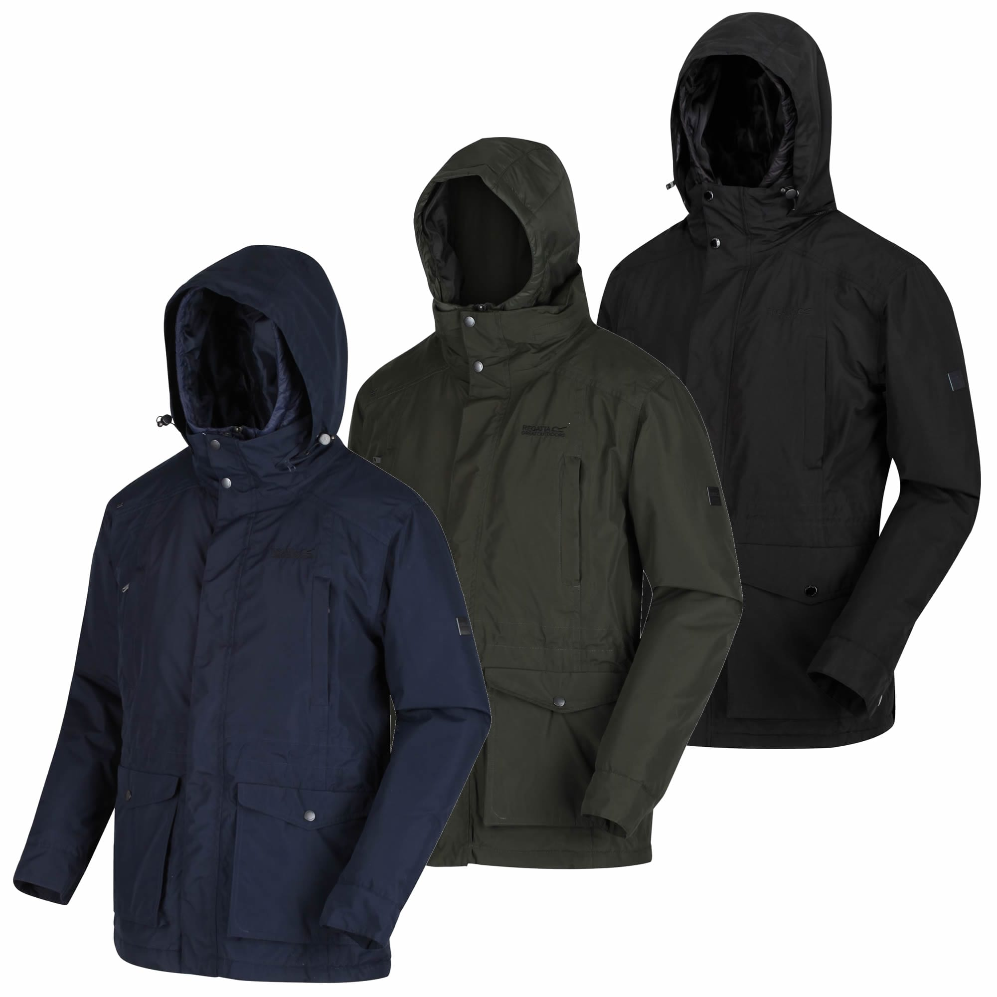 Regatta Mens Ranier Waterproof /& Breathable Thermo-guard Insulated Concealed Hooded Parka Jacket Waterproof