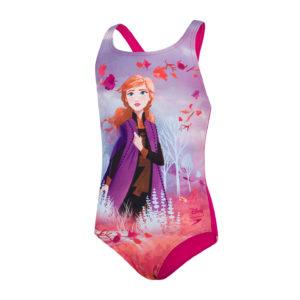 """Speedo Disney Frozen 2 """"Anna"""" Digital Placement Medalist Girls Swimsuit"""
