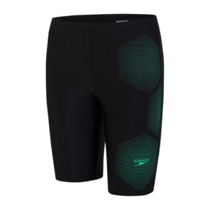 Speedo Tech Placement Boys Jammer Black/Green